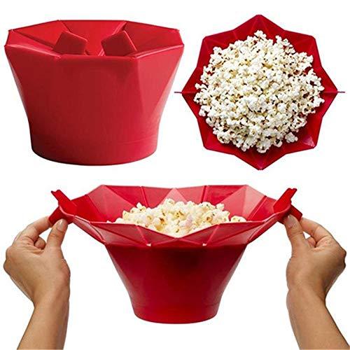 bingx Forno a microonde del Silicone Popcorn Ciotola Cucina Facile Strumenti Magica Domestica Popcorn Maker Container Healthy Cooking Tools - Colore Casuale