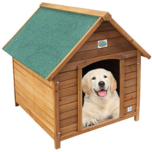 BPS Caseta de Madera Casa para Perros Mascotas con Capa Superior Impermeable Tamaño S/M/L (S: 72 * 63 * 68 cm) BPS-1353