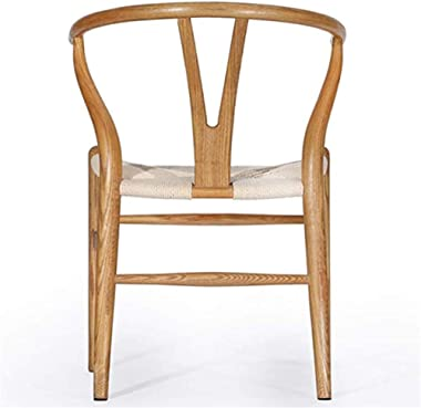 Multi-Functional Wishbone Chair Dining Chair, Natural Solid Wood Material, Hand-Made Wood Wax Oil Coating Hot Bending Technol
