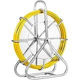 Fish Tape Fiberglass Reel Wire Cable Running Rod Duct Rodder Fishtape Puller 6mm (6mm)