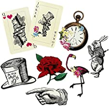 Talking Tables Alice In Wonderland Party Props Mad Hatter Tea Party, Pack of 8, Mixed Sizes