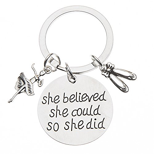 Infinity Collection Dance Keychain, Dance Jewelry, Dance She Believed She Could So She Did Keychain, for Dancers Idaho