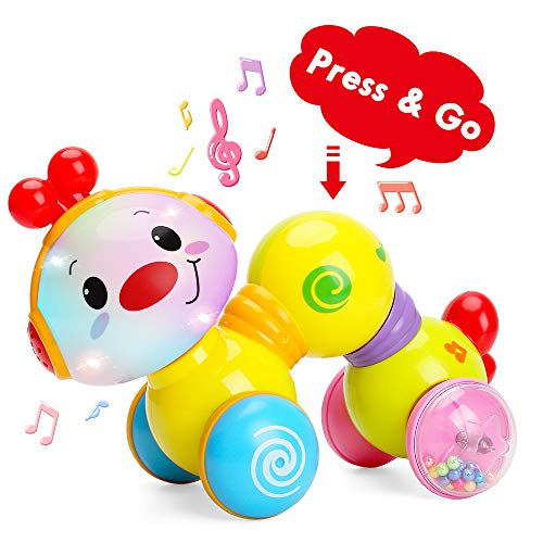 TINOTEEN Juguetes para bebés, Juguete de Oruga de rastreo Musical para niños pequeños para bebés niños pequeños 6 9 12 18 Meses