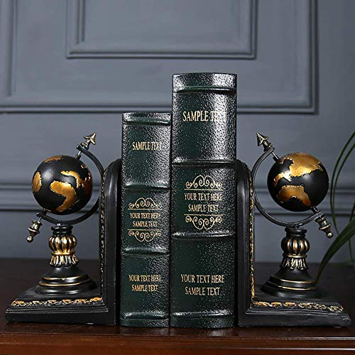 Zhihao Harz Bookends, Globus Design Kunst Bücherregal - Vintage Stil Dekorative - Büro Bibliothek Geschenke