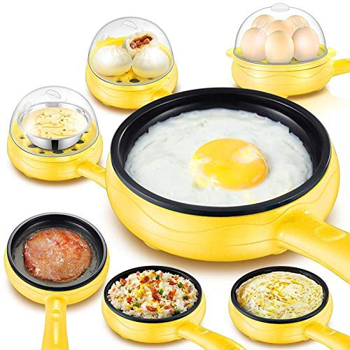 Oleander Multifunctional 2 in 1 Electric Egg Boiling Steamer Egg Frying Pan Egg Boiler Electric Automatic Off with Egg Boiler Machine Non-Stick Electric Egg Frying Pan (Multi)