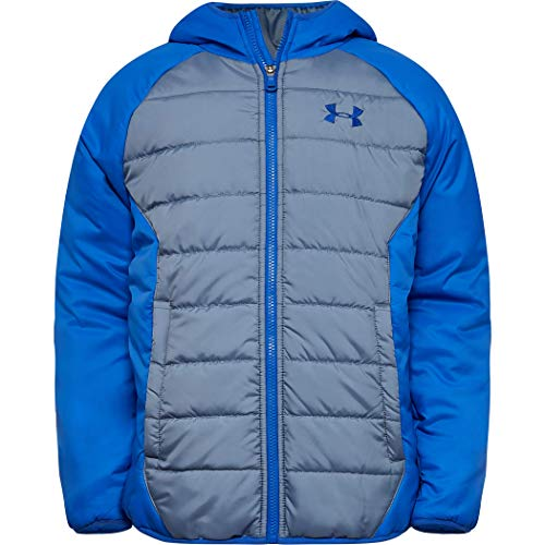 Under Armour Boys' Big Pronto Puffer Jacket, ash Gray F, YLG