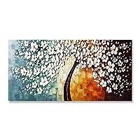 """現代の花キャンバス絵画抽象的な金のなる木ポスターとプリントリビングルームの家の装飾のための壁アート画像60x120cm / 23.6""""x47.2""""フレームなし"""