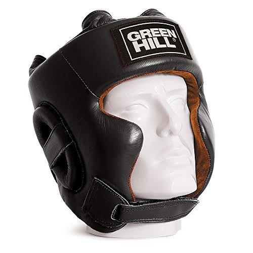 GREEN HILL Casco DE Boxeo Spartan PROTECCIÓN DE PÓMULOS MEJILLAS Boxing Negro (L)