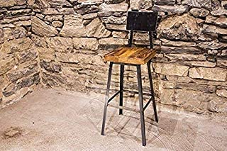 Brew Haus Industrial Style Bar Stools and Counter Stools with Scooped Backs