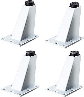 Patas para muebles Patas Regulables para Muebles de Cocina o baño,4 piezas, Pies de gabinete de altura, patas de mesa, patas de muebles(blanco)