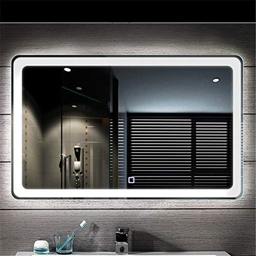 Beleuchteter Badezimmer-Spiegel-intelligenter Doppeltasten-Berührungsschalter-LED Anti-Fog, für Familien-Badezimmer-Hotels (90 * 60CM)