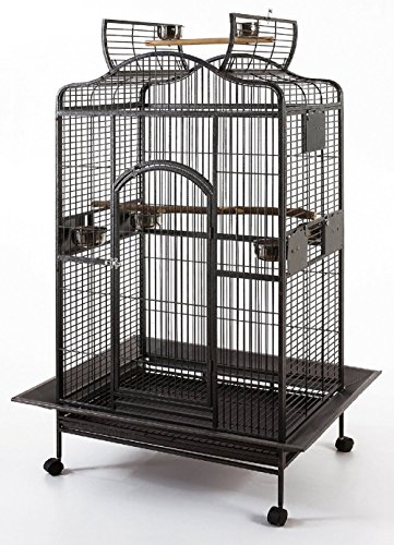 New Large Wrought Iron Open Play Top Parrot Bird Cage for Large Macaws