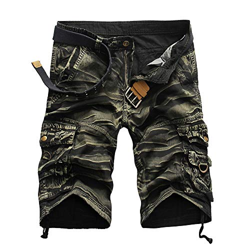Beonzale Hose Herren Elastische Taille Herbst Jogger Patchwork lässig Drawstring Jogginghose Activewear kurzen Hosen