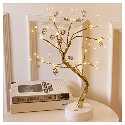 ZS ZHISHANG LED Bonsai Tree Lamp with 72 LED Lights with USB/Battery Touches Switch Deco for Home Bedroom Living Room