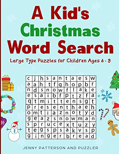 A Kid's Christmas Word Search: Over 50 Large Type Christmas Word Search Puzzles  - A Great Gift for Any Child in Your Life