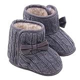 Inverno Caldo Baby Infant Fondo Morbido Carina Animale Stivali Anti Scivolo Stivali Toddler Prewalkers Baby Shoes Pattini di Bambino 0-18 Mesi (età: 6~12 Mesi, Grigio)