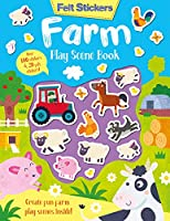 Felt Stickers Farm Play Scene Book