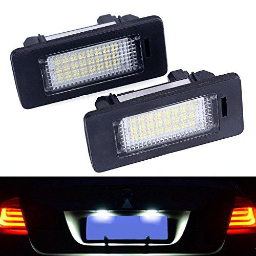 Littou KOLOME 2x 24 LED 3528 SMD Kennzeichenbeleuchtung Canbus Error Weiß 6000K für E82 E90 E92 E93 M3 E39 E60 E70 X5 E39 E60 E61 M5 E88