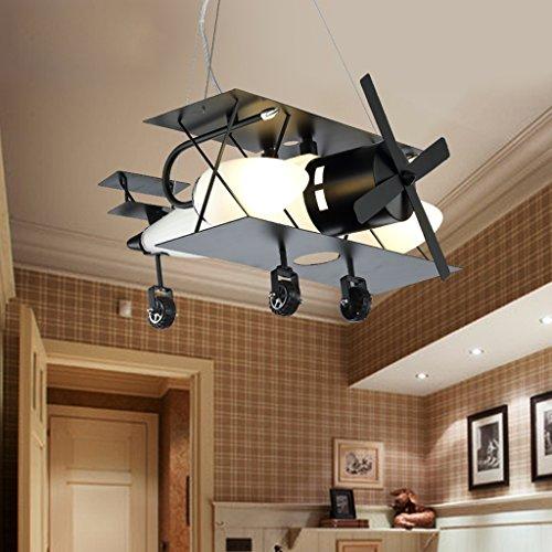 Chandelier American Retro Industrial Style Lámparas de Aviones Lámpara Creativa de Dibujos Animados Personalidad Restaurante Tienda de Ropa Boy Dormitorio Niños Habitación Luces E14