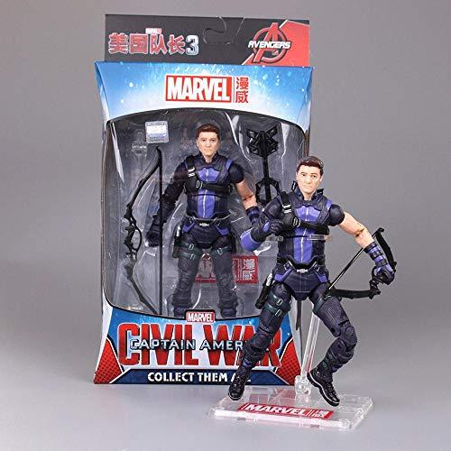 Toys Marvel Avengers Actionfigur Marvel Avengers Infinite War Iron Man Spider-Man Captain America Modell Animierte Figur Modell Spielzeug Für Kinder 17CM Hawkeye