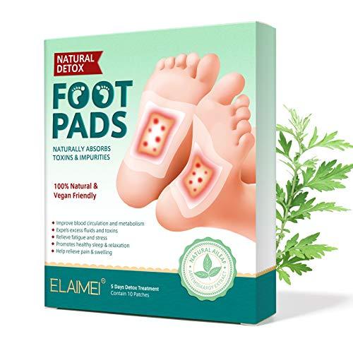 Detox Fußpflaster Natürlich, Fusspflaster zur Entgiftung, Detox Pflaster Fuß zum Entfernen von Körpergiften, Stressabbau, Schmerzlinderung, Besserer Schla Fußpflege-Pads (2 * 10pcs)
