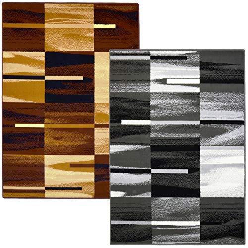 Trendyhome Teppich Kurzflor Wohnzimmer Hochwertig Modern Geeignet für alle Zimmer. (Braun Bond Bcf, 160 cm x 220 cm)