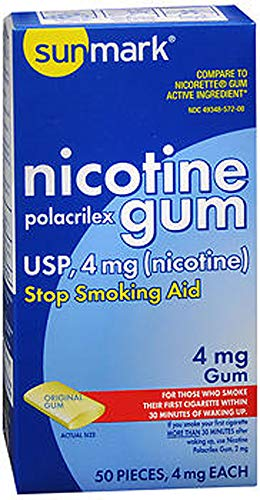 Sunmark Sunmark Nicotine Polacrilex Gum Original, Original Flavor 50 each 4 mg