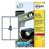 Avery White Heavy Duty Labels - Laser - L4774 - Etiquetas de