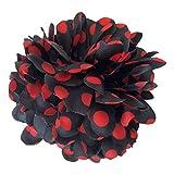 La Señorita Flores Flamenco Negro con Puntos Rojo Vestido Español