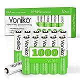 VONIKO Rechargeable Battery AAA 12...