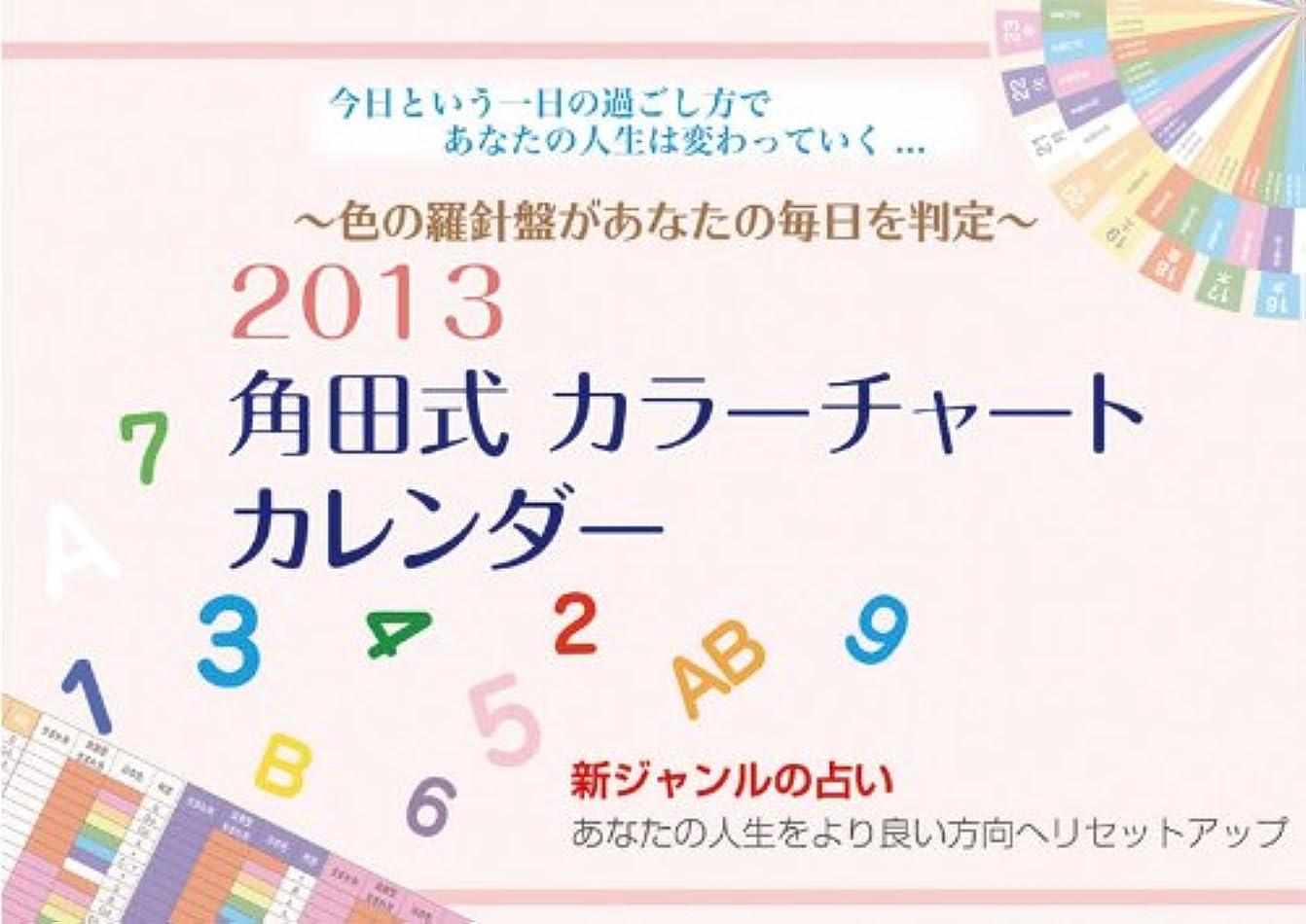 不倫パット文角田式カラーチャート 2013カレンダー