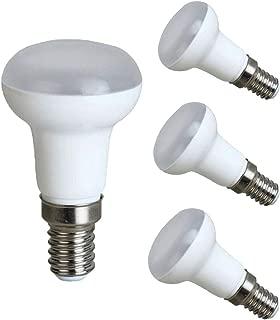 EBD Lighting R50 LED Light Blubs (4 Pack) 5W (45W Incandescent Bulb) 3000K Warm White R50 Long Neck LED Bulbs Reflector E14 Base 120 Degree Beam Angle Wide Flood Light for Home,School,Stroe,AC85-265V