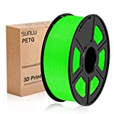 "Material: PETG (Polyethylene terephthalate glycol) - Color: Green, 1 KG (2.20 lbs) PETG Filament ── 100% New Virgin Material FROM Korea Size: 1.75mm (Tolerance Level : ± 0.02mm) - Spool Diameter: 7.87"" - Spool Width: 2.83"" - Spool Hub Hole Diameter: ..."