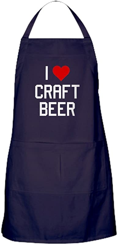 CafePress I Heart Craft Beer Kitchen Apron With Pockets Grilling Apron Baking Apron