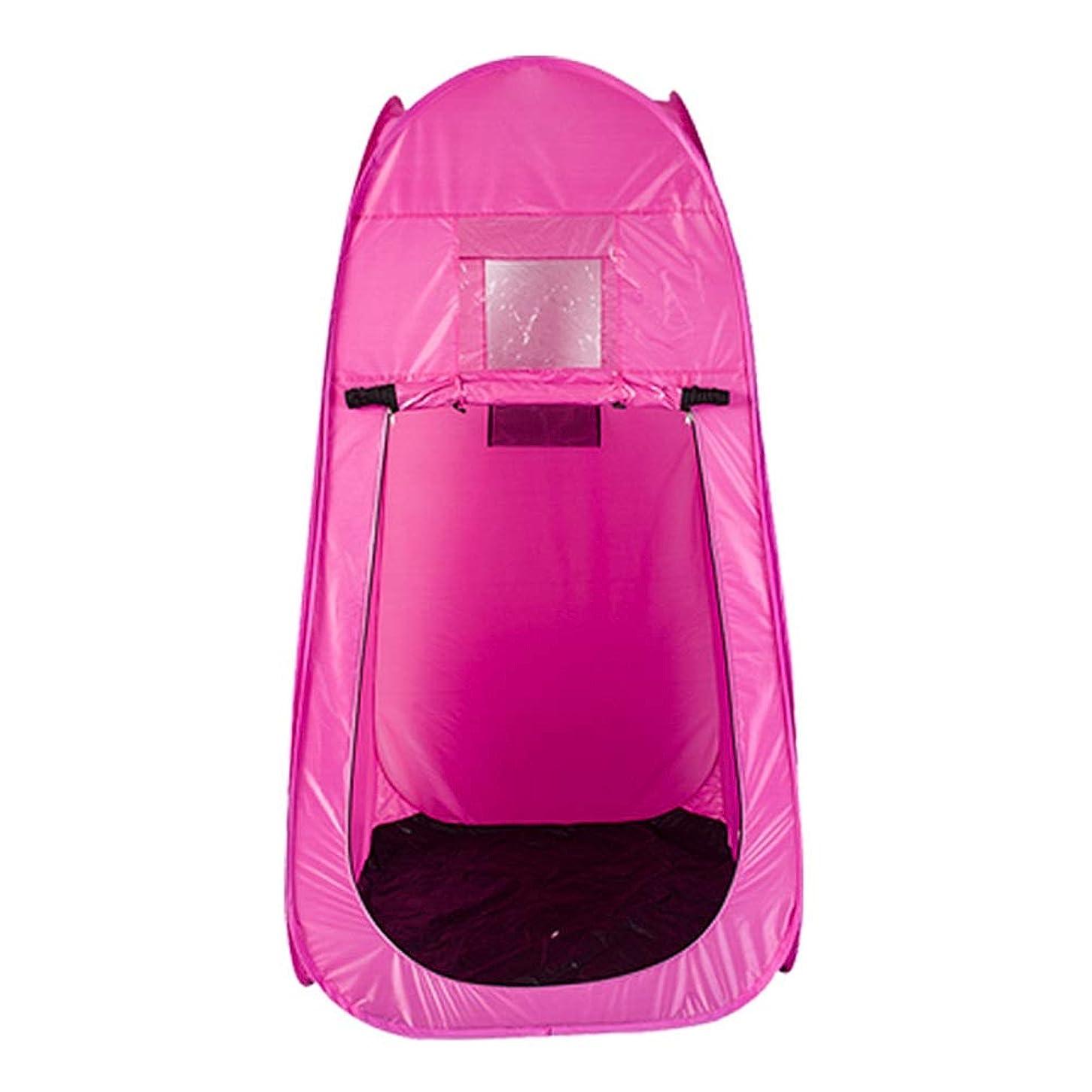 愛情深いアミューズ葉を集めるポータブル スチームサウナ ルーム ホーム パーソナル スパ Slim身 減量 解毒 サウナテント リモコン 2L 蒸気発生器 機械 (Color : Pink)
