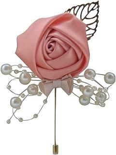 Xuniu Brosche Hochzeit Brautstrau/ß Blume Strass Faux Perle Brosche Charme Handwerk Geschenk Gold