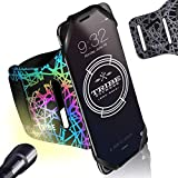 TRIBE Reflective Running Phone Holder Sports Armband. iPhone Cellphone Arm Band for Women & Men. Runners, Jogging, Exercise, Walking & Workouts. Cell Bands for iPhones, Galaxy & Any Other Phone Sizes!