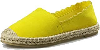 Women's Slip On Loafers Flats Espadrille Breathable Walking Shoes Casual Canvas Sneaker AL01