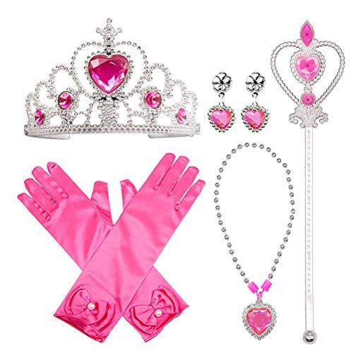 Kerta Juego de corona de Frozen, juego Cossplay, juguetes de disfraz, 5 piezas/juego de princesa, juguetes de fiesta de vacaciones