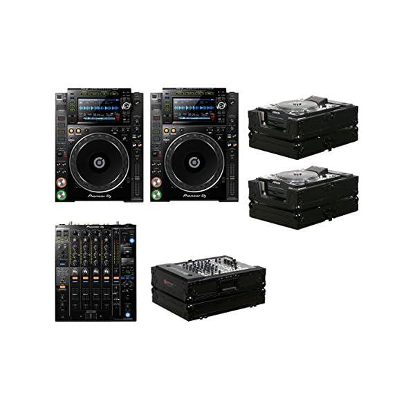 2x Pioneer CDJ-2000NXS2 + DJM-900NXS2 + Black Label Cases