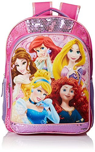 Disney Baby Girl's Princess Light Up Backpack, Pink, One Size
