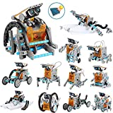 OFUN 12 in 1 Roboter Kinder Bausatz solar Lernspielzeug, STEM Spielzeug Konstruktion Bauset, DIY Educational Wissenschaft Experimentierkasten für Kinder über 8 Jahren (190 Stück)