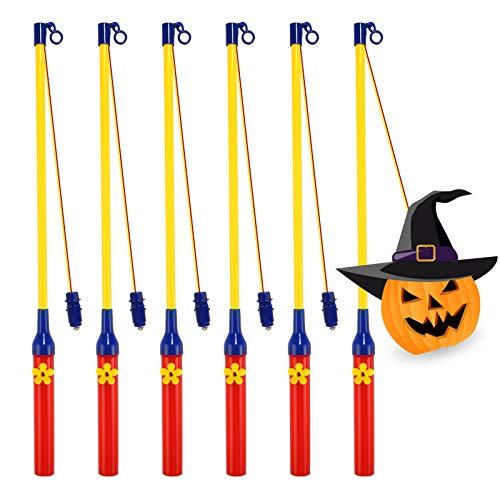 6 Pack LED Laternenstab, LED Elektronischer Laternenstab für Kinder, Kinderpartys, Kindergarten, Mitgebsel Kindergeburtstage, Kostümpartys, Halloween, Weihnachten und Mehr
