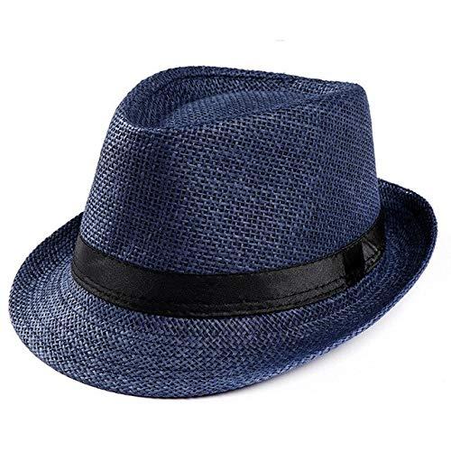 Mdsfe 2020 Mode zomer strohoed heren zonnehoed zwarte kap zomer strandhoed panama hoed strohoed reis zonnehoed k3459 Navy-A3459