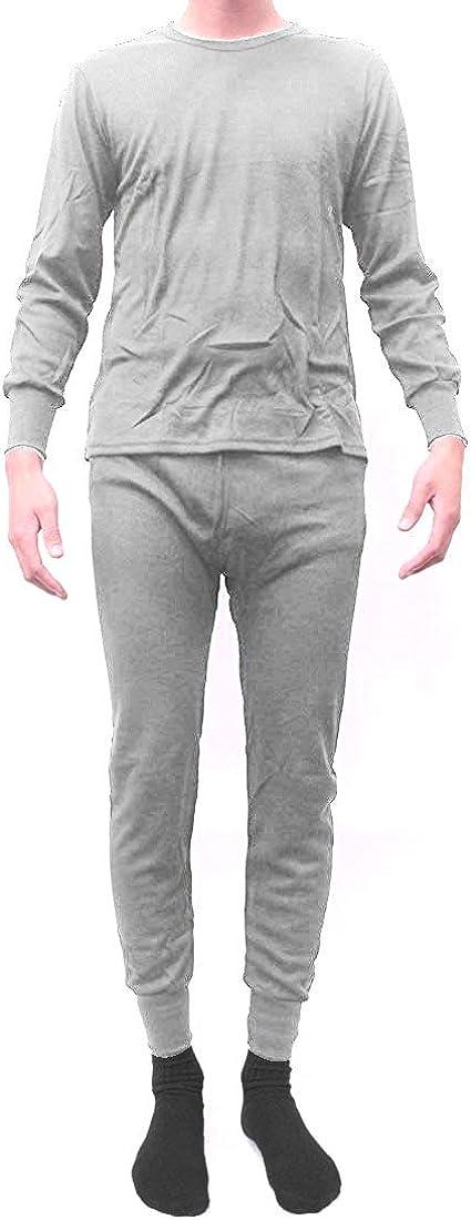 Men's 100% Cotton Thermal Underwear, 2-Piece Set