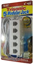 Trisonic 5 Outlet Modular Jack-TS-107 Off White