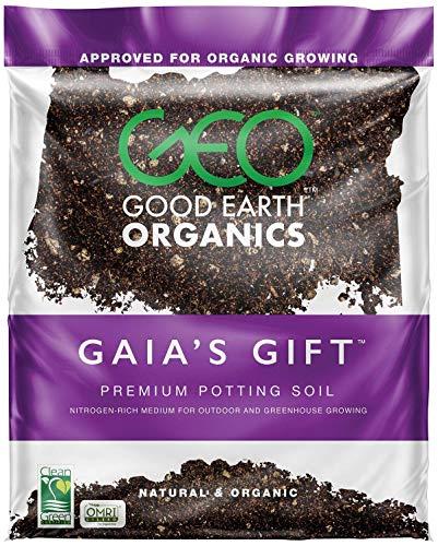Good Earth Organics, Gaia's Gift Premium Potting Soil, Organic Potting Soil for Heavy Feeding Plants Like Tomatoes, Hops & More (2.5 Gallon)
