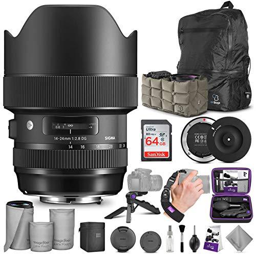 Sigma 14-24mm f/2.8 DG HSM Art Lens for Nikon F + Sigma USB Dock with Altura Photo Advanced Accessory and Travel Bundle