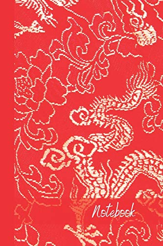 Notebook: small lined Super Red & White Dragon Notebook / Travel Journal to write in (6'' x 9'') 120 pages