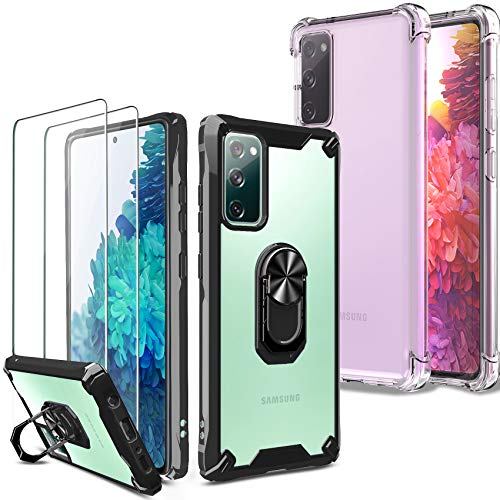 [4 Items] Milomdoi 2 Pcs Case for Samsung Galaxy S20 FE [4G&5G] + 2 Pack Tempered Glass Screen...